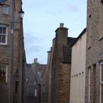 Stromness main street on a Saturday in October