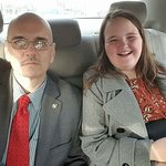 Kate and Bill Lewis of Fort Lauderdale, Florida, at the Walter E. Washington Convention Center i
