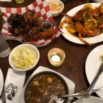 Cajun feast - with Claw Daddy crabs on the side