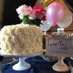 Vanilla Cake, Old Fashioned Buttercream, Rose Design