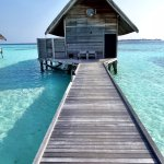 Our villa - the Loft Villa, with a massive back deck over the lagoon