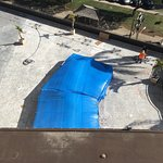 The hotel was filthy and under construction with JACKHAMMER noise by the tarp cover pool! The ai