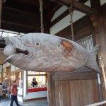 木魚の原形とも云われている巨大な木製の魚