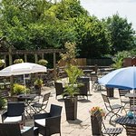 Our extensive beer garden, lovely in the summer!