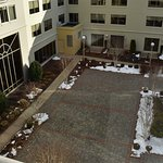 Courtyard, in the summer it has fire pits and bag toss out.