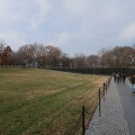 Vietnam Veterans Memorial Wall with the Names of the Fallen Soldiers