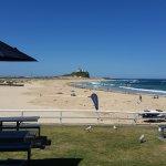 10 minute walk to Nobby's beach