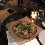 Pizza with Brussel Sprouts and wild mushrooms