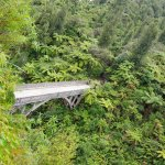Bridge to nowhere seen from the overlook on the bush walk with Whanganui River Adventures.