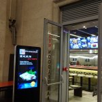 Entrance in the train station Genova Piazze Principe