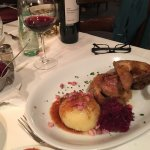 Roast duck with cabbage and potato