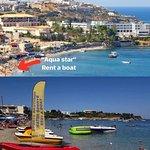 """AQUA STAR"" rent a boat & water sports Centre agia pelagia Crete Greece"