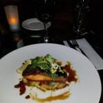 Pan fried salmon, pak choi, ginger & chilli