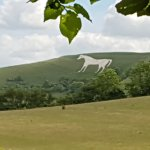 The White Horse from a far.