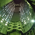 Looking up from the core of Ponte City at 22h.
