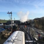 Embsay and Bolton Abbey Railway - getting the engine ready