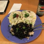 Jerk Chicken Tacos with Black Beans and Rice