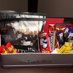 Complimentary tuck box in room