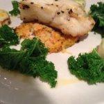 baked cod rosti leeks chorizo kale