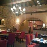 Zona del comedor, por las noches funciona un restaurant