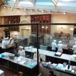 The busy kitchen at Demel