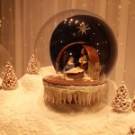 Chocolate Nativity scene in Demel window