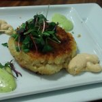 Jumbo lump crab cake small plate--still looking for the crab