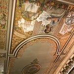 ceiling has original artwork !