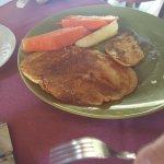el desayuno avec 3 pancakes