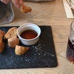 Warmed bread & balsamic vinegar