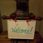 Porter the Pig welcomes guests to Cork Fire Kitchen!