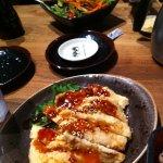 Happy hour, sesame chicken + a Bonsai salad