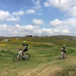 biking inside the Castelfalfi Golf course