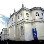 Lateral e fundos da Igreja de São Boaventura em Canavieiras.