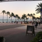 View of Fort Lauderdale Beach from Outside Bar @ Hotel