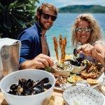 Italian casual seafood beach club