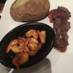 Tenderloin medallions and shrimp
