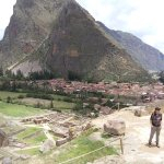 Looking at Grainaries hike across valley from us above Ollantaytambo