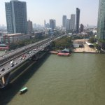 Taksin Bridge in the afternoon. View from Balcony