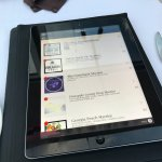 Wine menu on a tablet