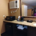 Room 306-vanity area, fridge, micro, heating/AC