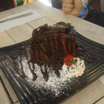 To die for chocolate cake. And our server Irvin was polite and very friendly. We stop here every