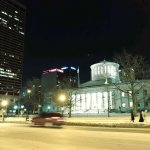 The Statehouse (across the street) after the production. Beautiful crisp winter evening!