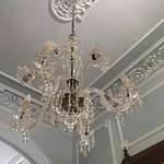 Beautiful ceilings, moldings and chandeliers