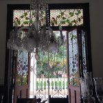 Tiffany windows and Baccarat chandelier