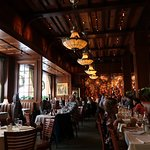 Inside a dining hall of the restaurant