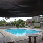 cloudy days, but a beautiful pool