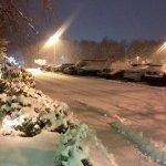 Still Snowing Late at Night