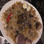 plov with horse meat