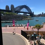 The view from our table, across the harbour.